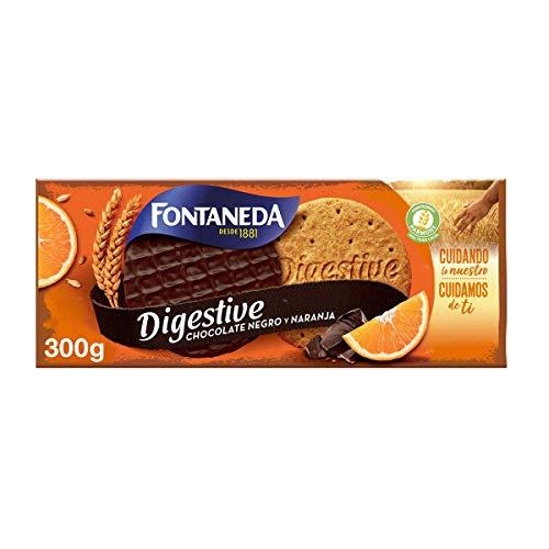 Fontaneda Digestive Galletas Negras con Naranja, 300g