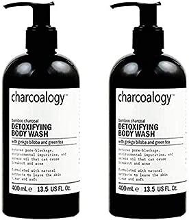 Charcoalogy Bamboo Charcoal Detoxifying Body Wash 400 ml. x 2 pcs.