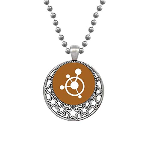 OFFbb-USA Circle Molecular Structural Traction Necklaces Pendant Retro Moon Stars Jewelry