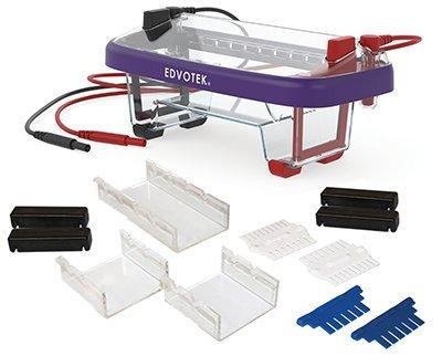 Edvotek M12 Dual Electrophoresis Apparatus, 2 Lab Groups Sample, 7cm Length x 7cm Width Gel Trays