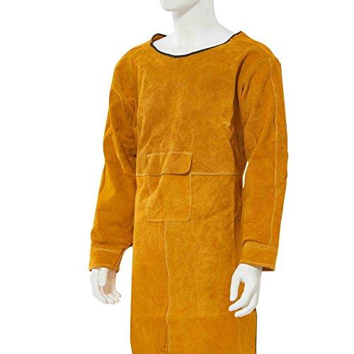 Babimax Schürze flammhemmende Schweißerschürze aus Rindsleder Arbeitskleidung Herren Damen