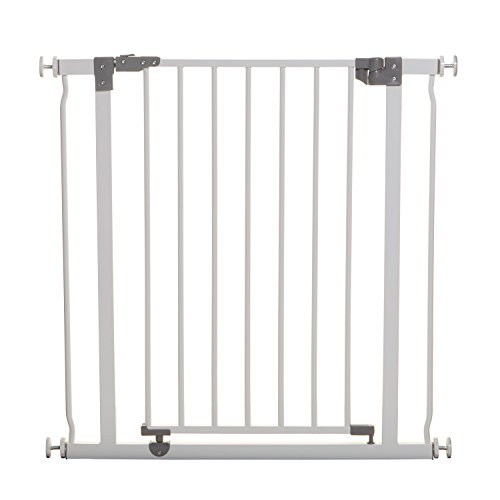 Dreambaby Liberty Baby Safety Gate - Pressure Mounted Security Gates - Fits Opening from 75-81 cm Wide - with Smart Stay Open Feature -White - Model F854