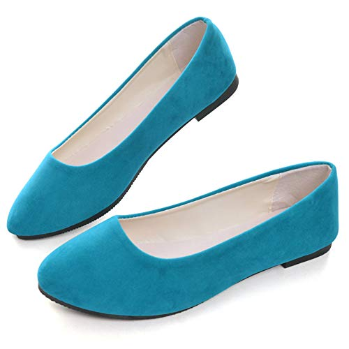 Top 10 best selling list for aqua blue color flat shoes for women