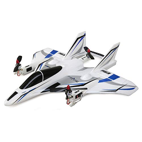 E-flite Mini Convergence VTOL Multi-Rotor Delta Wing RC Airplane PNP, 410mm (Transmitter, Receiver, Battery & Charger Not Included) White with Decals
