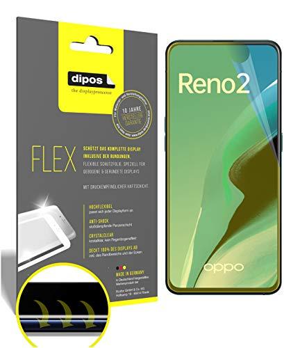 dipos I 3X Schutzfolie 100prozent kompatibel mit Oppo Reno2 Folie I 3D Full Cover Bildschirmschutzfolie