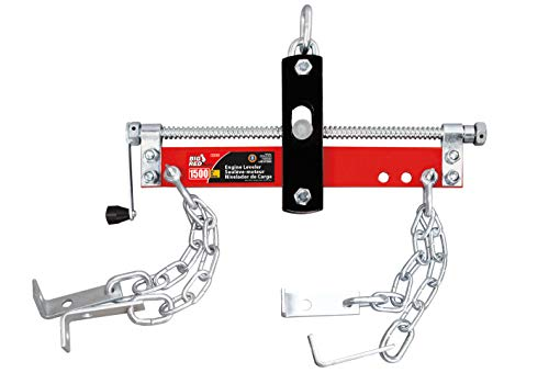 BIG RED T32100 Torin Engine Hoist Shop Crane Accessory: Steel 3 Position Engine Leveler with Adjustable Handle, 3/4 Ton (1,500 lb) Capacity, Red