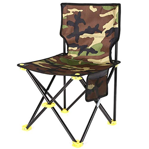 GWM Folding Camping Chairs, Outdoor Chairs with Side Pocket, Stable Structure, Max. Capacity 120 kg