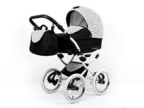 Cochecito de bebe 3 en 1 2 en 1 Trio Isofix silla de paseo Nostalgica by SaintBaby Black Dots 2in1 sin Silla de coche