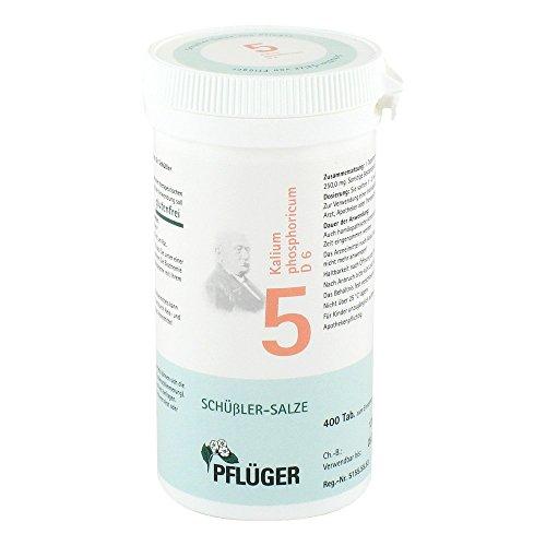 Biochemie Pflüger 5 Kalium phosphoricum D6 Tabletten, 400 St. Tabletten
