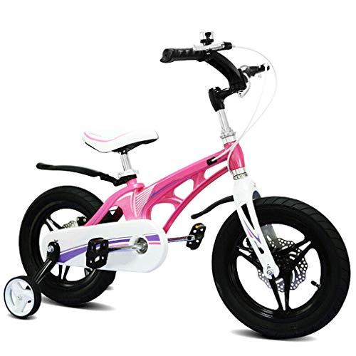 Bicicleta para niños de 2 a 10 años de edad, niño niño, niño, pedal, cochecito de niño, freno de doble disco, freno de doble disco, aleación de magnesio, marco hueco integrado, con ruedas para entrena