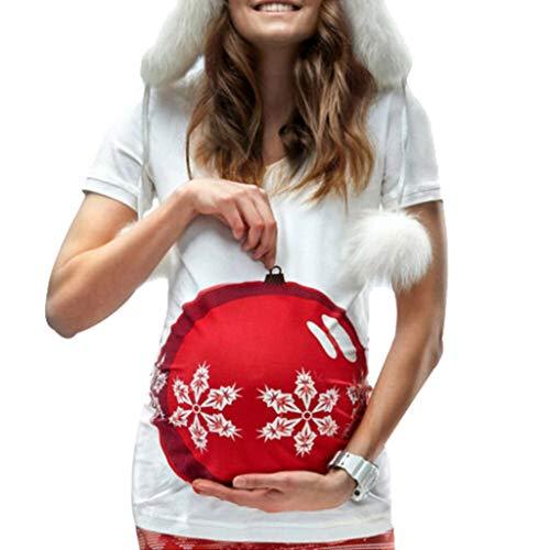 Solike Femme Tops Blouse Chemise Tee Shirt à Manches Longues Enceintes Maternité de Allaitement Grossesse en Coton Chic, Automne Hiver Impression Pullover de Allaitement Sweats Noël