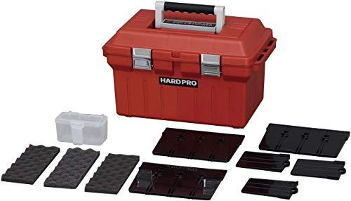 Iris Ohyama, Caja de Almacenamiento de Bricolaje, Organizador, con Compartimentos Extraíbles, 46 x 28 x 27 cm, Garaje - Hard Pro 46 - Rojo