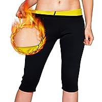 NOVECASA Suana Chaleco Camisa de Manga Larga Mujer/Pantalones Cortos de Sudoracion de Neopreno Shapewear para Sudoración, Quema Grasa, Adelgazante (XL, Pantalones Cortos)