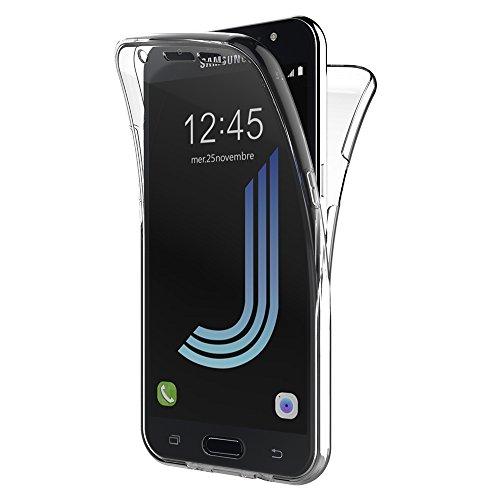AICEK Funda Samsung Galaxy J5 2016, Transparente Silicona 360°Full Body Fundas para Samsung J5 2016 Carcasa Silicona Funda Case