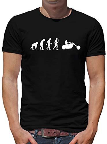 TShirt-People Evolution Chopper - Camiseta de manga corta para hombre, diseño de ruta Harley 66 Negro L