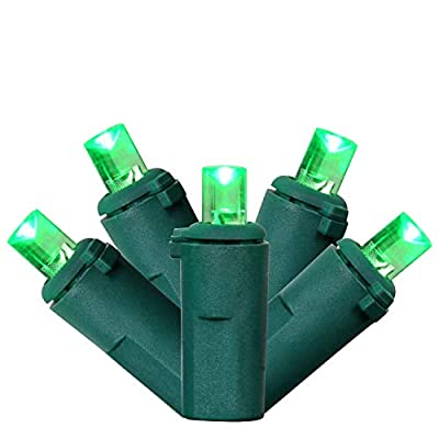 YULETIME UL Certified Green Wide Angle LED Christmas String Lights, 66 Ft 200 LED Commercial Grade 5mm Christmas Light Set, Connectable Home Decor Lights for Patio Garden Wedding Holiday (Green)