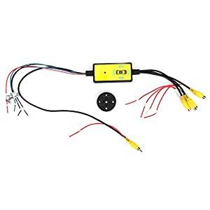 Car Video Switcher - Video Switcher,Intelligent Car Video Switcher Converter 4 Input 1 Output Switch Video System Auto Parts Car Accessories