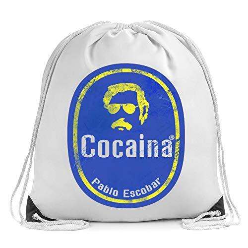Cocaina Pablo Escobar Coco Bolsa de Cuerdas Drawstring Bag Gym Backpack
