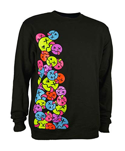 PSYWORK Schwarzlicht Sweatshirt Neon Side Tongue, Gr. M