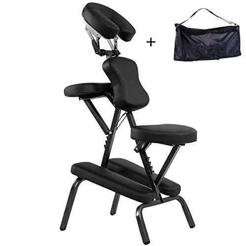 COSTWAY Chaise de Massage Professionnel Portable Solide et Légère Chaise de Spa Pliable...