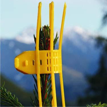 Wildverbiss-Schutz - Verbissschutzmanschetten (TS) 300 STK. in Gelb - Ganzjahresschutz gegen Wildverbiss