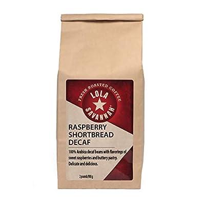 Lola Savannah Raspberry Shortbread Ground Coffee - Tart Raspberries Combined with Lightly Sweeten Shortbread | Decaf | 2lb Bag