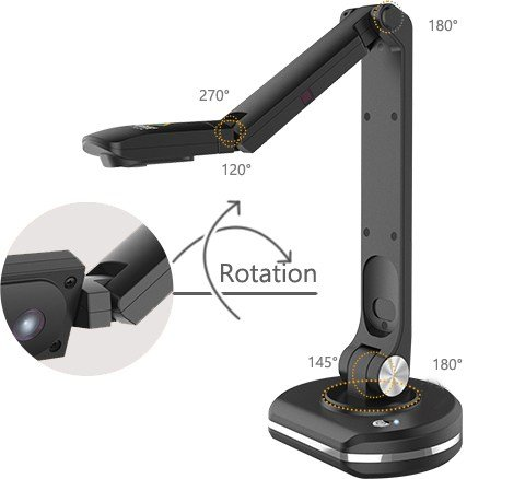 JOYUSING Document Camera V500-S, with Zoom | Auto-Focus and Dynamic Capturing | Flexible Arms, MAC Windows, Online Education