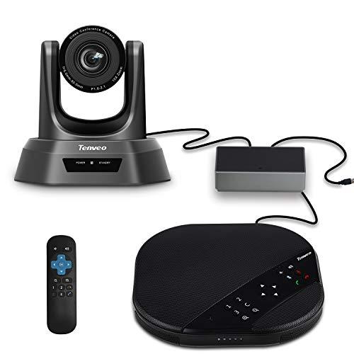 SUFUL Tenveo VA3000 10x USB PTZ Cámara para videoconferencias Zoom óptico Cámara de Conferencia y Altavoz, 1080p Full HD Gran Angular Webcam con mando a distancia (sin micrófono de extensión)
