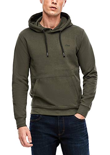 s.Oliver Herren Sweatshirt aus Sweatware Khaki L