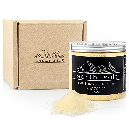 BRINELAB Earth zout baszout, 800 g doos, 100% natuurlijk badzout | basenbad zonder additieven & zonder geurstoffen | thermalzout badkristallen - bijzonder hoge zuiverheid