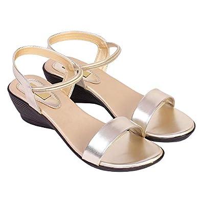 Medi Trade Women's Single Strap Wedge Heels