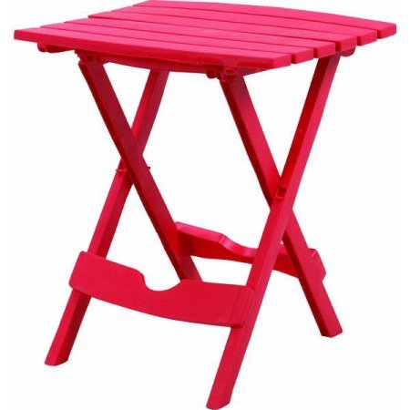 Adams Manufacturing Quik-Fold Side Table Cherry Red, Pack of 1