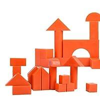 HLosanyy 高品質!!爆発! プレミアム木製ビルディングブロックセットクラシック広葉樹平野小さなウッドブロックピース