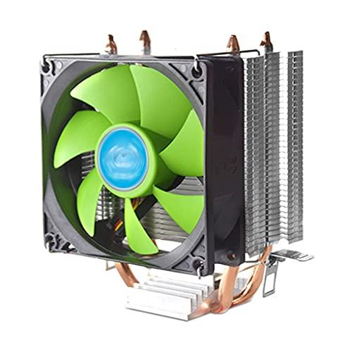 MSEKKO Ventilador de chasis Enfriador de CPU Ventilador silencioso PWM Ventilador de refrigeración del radiador con Doble Tubo de Cobre Perfil bajo de 90 mm para Intel/AMD/LGA 775/1155/1156