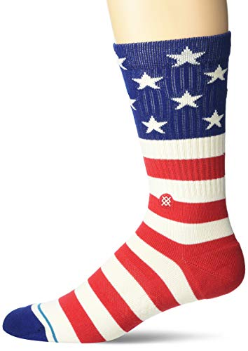 Stance Men's Sock The Fourth ST Crew, Red, Large
