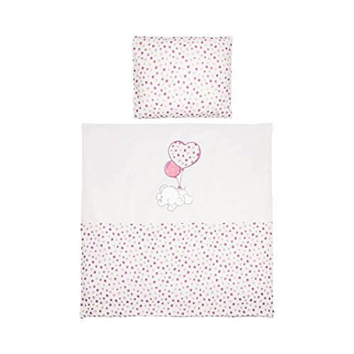 BORNINO HOME La parure de lit Flying Dumbo 35x40 / 80x80 cm, Flying Dumbo rose