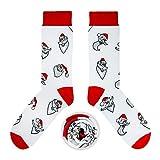 CUP OF SOX Damen Herren Lustige Socken mit Weihnachtsmotiven in der Pappbecher, Bunte Geschenksocken für Männer & Frauen (Weiß 2, 41-44)