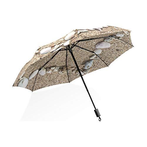 Regenschirm Strand Sand Muschel 3 Falten leichte Anti-UV