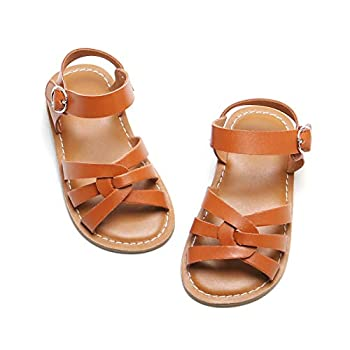 Girls Brown Sandals - Toddler Girl Dress Shoes Size 8 Toddler/Little Kid