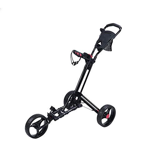 Review Of KXDLR 3 Wheel Golf Trolley, Golf Push Cart, Golf Tri Cart, Fold Trolley, with Umbrella Sta...
