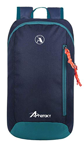 Anatoky Outdoor Small Mini Backpack Daypack Bookbags 10L (Navy Blue)