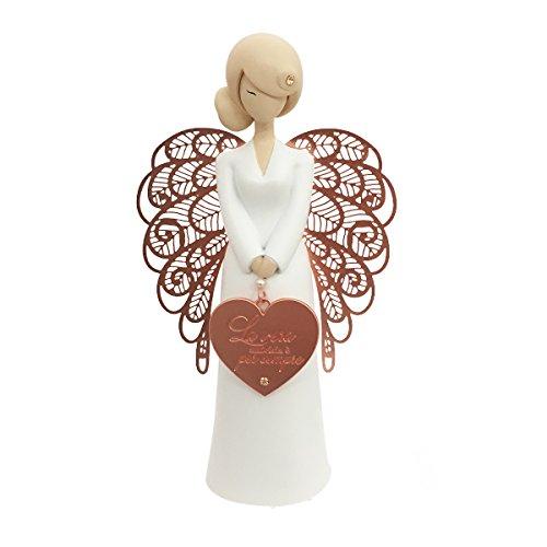 You Are An AngeI Figurina Angelo, Ceramica, Bianco, 15.5 cm