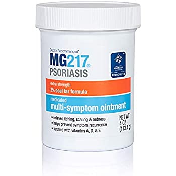 MG217 Multi Symptom Relief 2% Coal Tar Medicated Psoriasis Ointment - 4 oz Jar