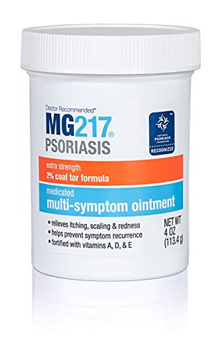 MG217 Multi Symptom Relief 2% Coal Tar Medicated Psoriasis Ointment - 4 oz Jar