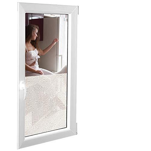 Solar Screen 6,57€/m² Fenster Folien Set Selbstklebende Milchglasfolie RAIN 152cm Breite Folie Fensterfolie