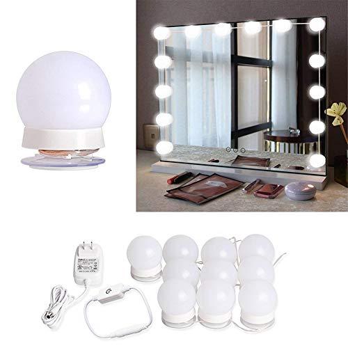 Majome LED-Kosmetikspiegel Lichterkette mit 10 dimmbaren Glühbirnen für Make-up Schlafzimmer Dressing Bad