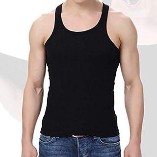 CcocoメンズフィットネスベストスポーツウェアボディービルアンダーシャツTシャツタンクトップ - ブラック - ワンサイズ