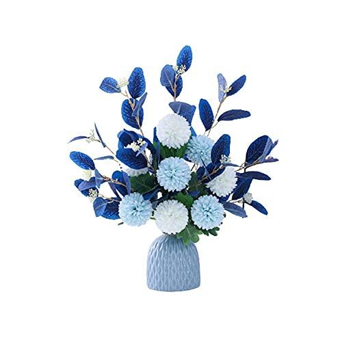 Demic Flores artificiales de plástico diente de león, diente de león, para casa, cocina, oficina, decoración interior y exterior