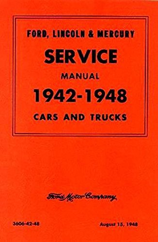 1942-1948 Ford Mercury Car Truck Service Shop Repair Manual (With Decal)