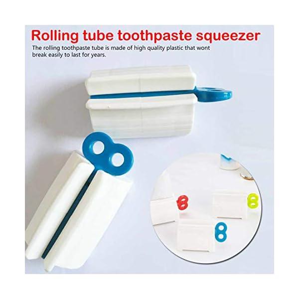 Desconocido Tubo rodante exprimidor de Pasta de Dientes/baño plástico